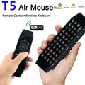 T5 2.4G Wireless Air Mouse Universal Remote Control Keyboard USB Wireless Receiver With IR Learning Mic Optional For Tv Box PC