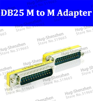 Wholesale Promotion Serial Cable Extended Adapter 25 Pin DB25 Male to Male M/M Mini Gender Changer Connector 50pcs