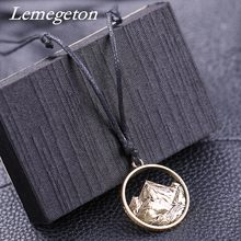 Lemegeton Mountain Necklace Men Women Choker Outdoor Travel Jewelry Climbing Minimalist punk Mountain Top Pendant Necklace(China)