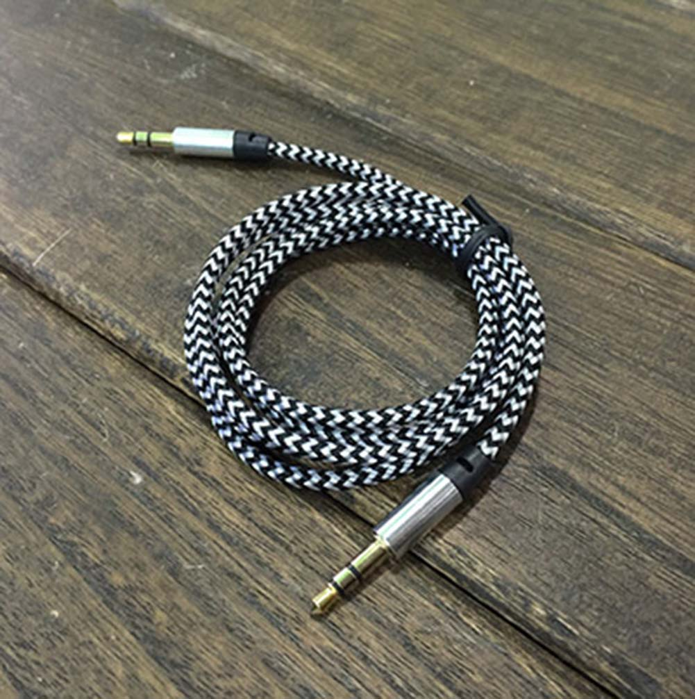1m Aux Cable 3.5mm To 3.5 Mm Male To Male Jack Auto Car Audio Cable Gold Plug For MP3 Player Mobile Phone Speaker