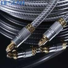 OD8.0mm Haute Qualité Argent Numérique Optique Fiber optique Toslink Audio SPDIF câble Cordon 1 m 1.5 m 1.8 m 3 m 5 m 8 m 10 m 15 m 20 m