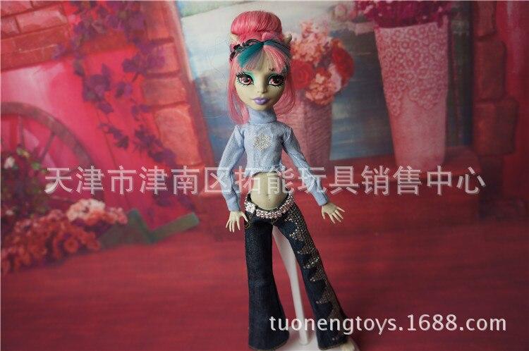 Echt fashion kinderen amerikaanse meisjes gift kleding pak, 10 stks / partij party trouwjurk voor originele monster hoge poppen 1/6