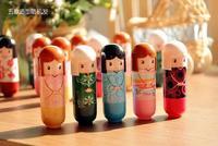 Cute Lovely Kimono doll Brand Makeup Lipstick Women Beauty Professional Cosmetic Lipstick Makeup lipgloss Free DHL shipping