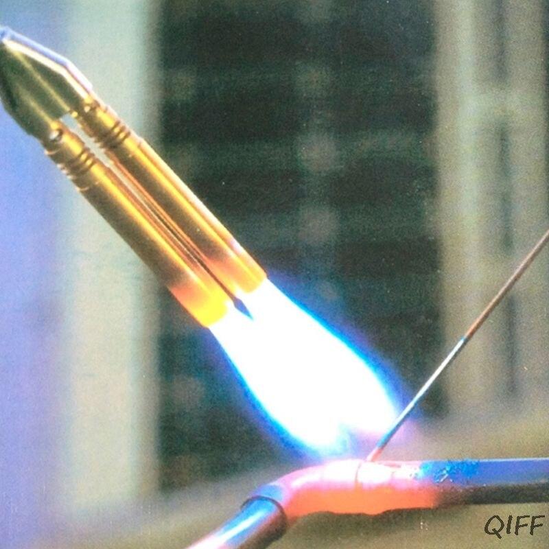 Butane Jet Flame Torch Double Tube Brazing Gas Blowtorch Lighter Burner Outdoor Camping Gun Mar28