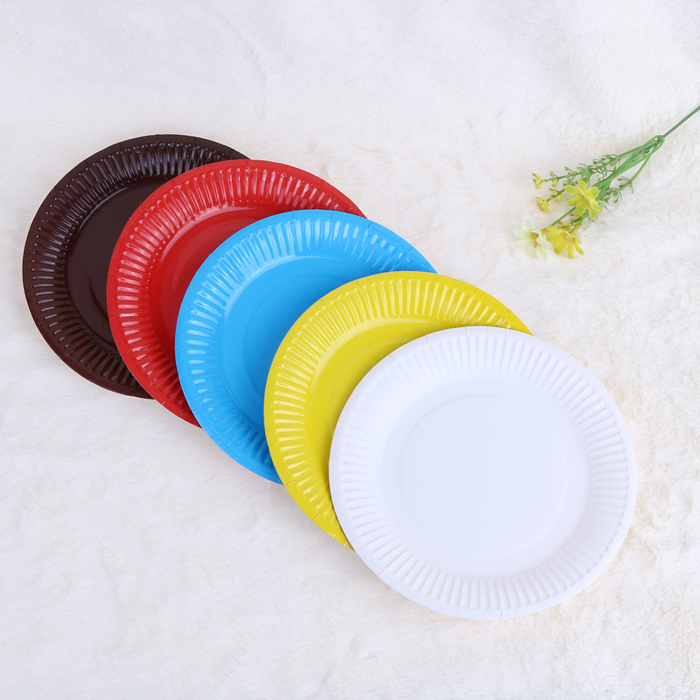 20Pcs/lot 7inch Candy Color Festival Disposable Plate Birthday Paper Plates For Party Wedding Holiday BBQ C&ing Event Supplies-in Disposable Party ... & 20Pcs/lot 7inch Candy Color Festival Disposable Plate Birthday Paper ...