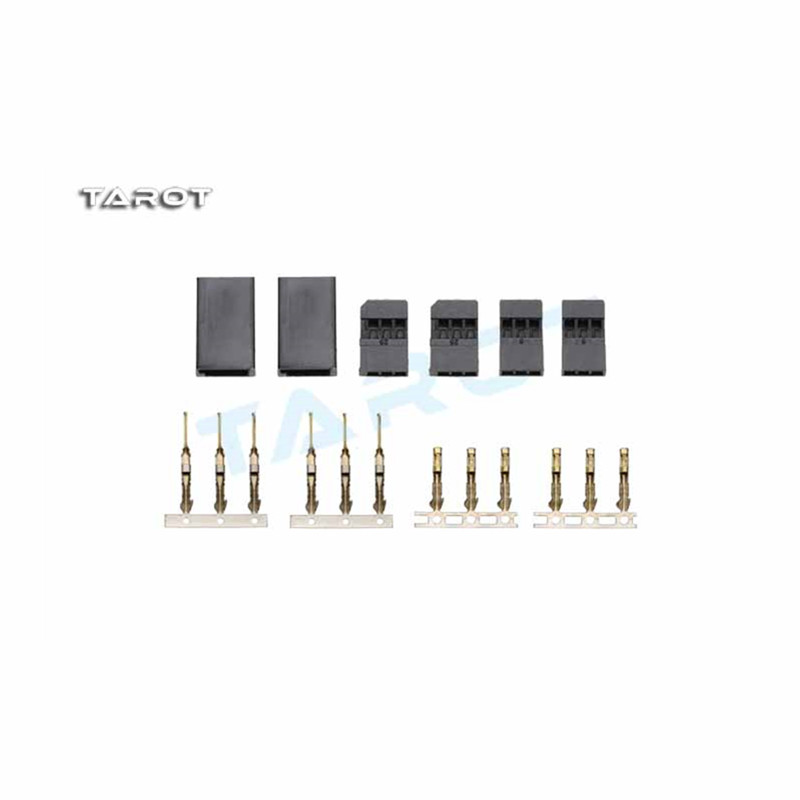 Tarot-rc Futaba Plug TL2896-01 Gold plated Servo Plug 1 pair