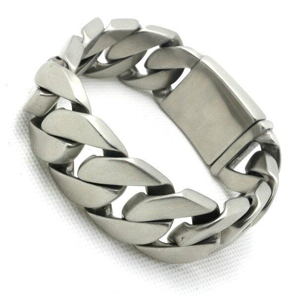 Top Quality 182g Huge Dull Polish Design Bracelet&Bangle Biker Chain 316 Stainless Steel Amazing Bracelet Valentine's Day Gift wing design chain bracelet