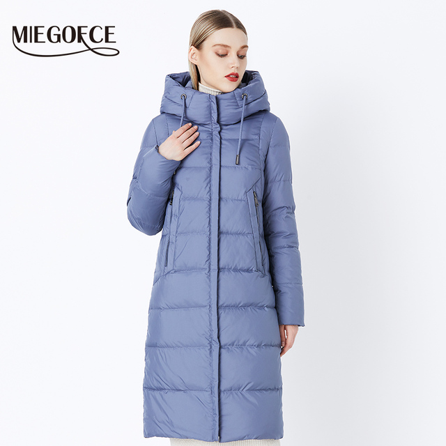 MIEGOFCE 2019 Winter New Collection Bio Fluff Hooded Women's Winter Coat Parka European Style Warm Stylish Women's Winter Jacket 1