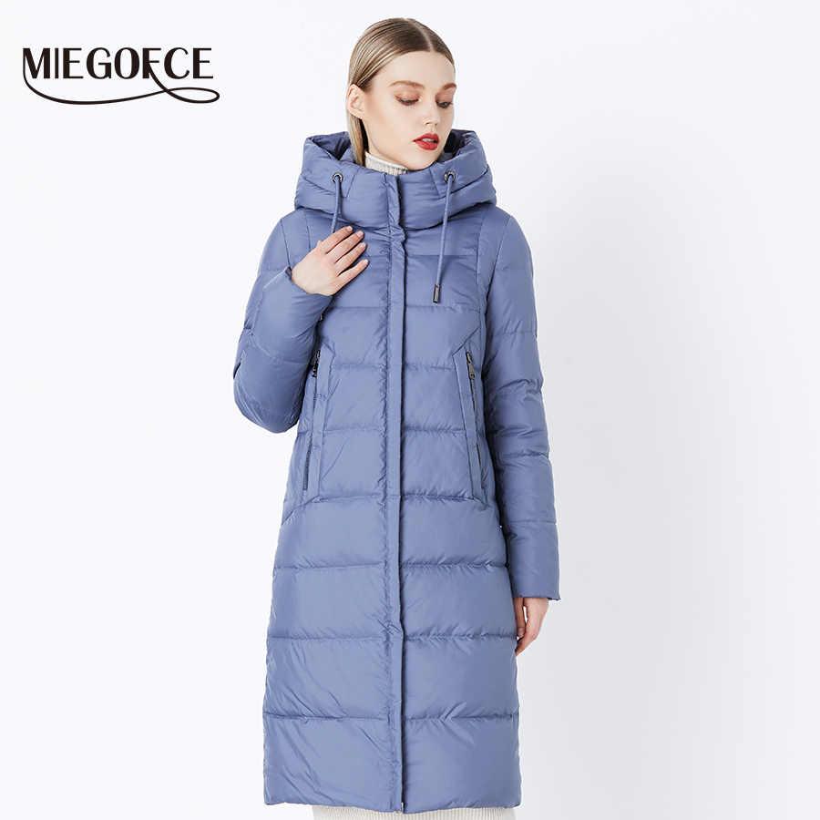 MIEGOFCE 2019 Winter Nieuwe Collectie Bio Pluis Hooded vrouwen Winter Jas Parka Europese Stijl Warme Stijlvolle vrouwen Winter jas