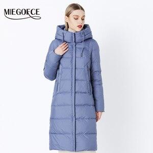 Image 2 - MIEGOFCE 2019 hiver nouvelle Collection Bio peluches à capuche femmes manteau dhiver Parka Style européen chaud élégant femmes veste dhiver