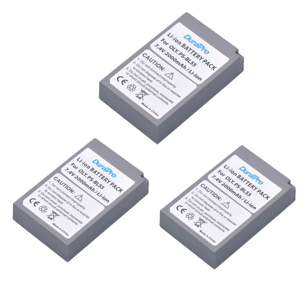 3 pz 7.4 v 2000 mah PS-BLS5 BLS-5 BLS5 BLS-50 BLS50 Batteria per Olympus PEN E-PL2, E-PL5, e-PL6, E-PL7, E-PM2, OM-D E-M10, E-M10 II