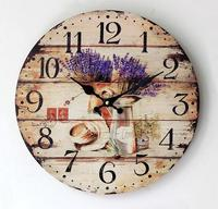 Free Shipping Modern Design Wooden Watch Wall Clock On The Wall Fashion Art Of Living Room