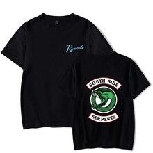 New 3d Printed Riverdale T Shirt South Side Serpents Tee Casual Short Sleeve Streetwear Funny Tshirts Harajuku 4XL