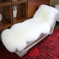 Super Luxury Keep Warm Thick Soft Shaggy Real Sheepskin Wool Area Rugs and Carpet for Living Room Chair Cover Home Mats custom