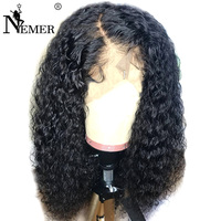 13x6 Lace Front Human Hair Wigs 150% Density Pre Plucked Natural Hairline With Baby Hair Curly Wig Brazilian Remy Glueless Nemer