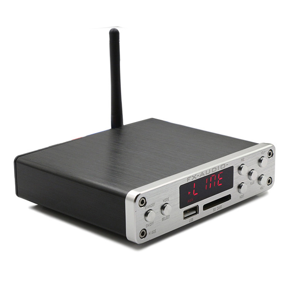 FX-Audio M-160E Bluetooth 4.0 Digital Audio Amplifier Input USB/SD/AUX/PC-USB Loseless Player For APE/WMA/WAV/FLAC/MP3 160W*2 fx audio m 200e nondestructive bluetooth 4 0 support usb sd card hifi mini power amplifier