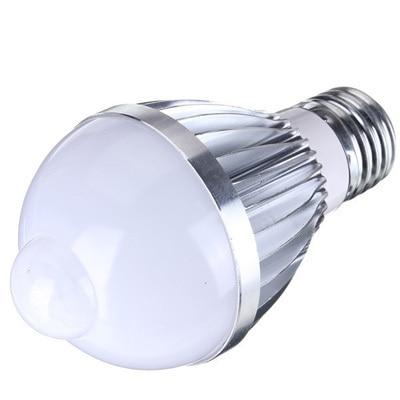 E27 5W/7W 220V/110V <font><b>Auto</b></font> <font><b>PIR</b></font> <font><b>Infrared</b></font> <font><b>Motion</b></font> <font><b>Sensor</b></font> <font><b>Detection</b></font> White Warm White 5730 SMD LED Bulb Lamp Lights 85-265V 1pcs/lot