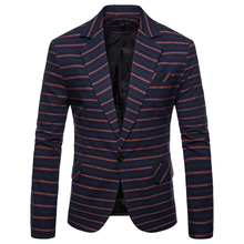 2019 new casual suit male Slim Korean version of the trend handsome British wind jacket mens striped