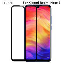 1PCS Full Glue Coverage Screen Protector for Xiaomi Redmi Note 7 Glass Film