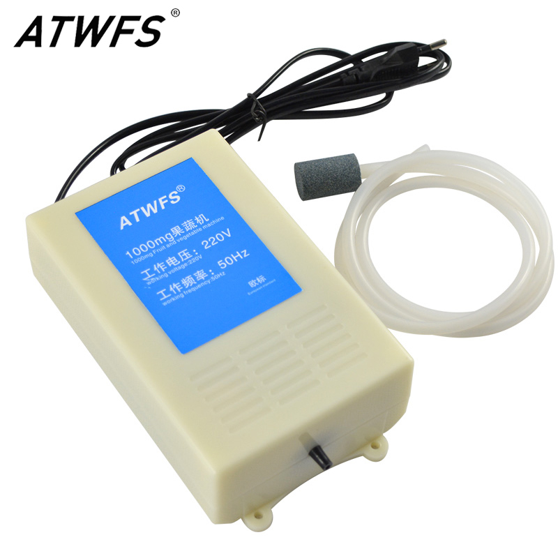 ATWFS 1000mg Ozone Generator 220v Water Ozonizer Aquarium Water Ozonator Sterilization DIY Kit Vegetable Washing Machine цена