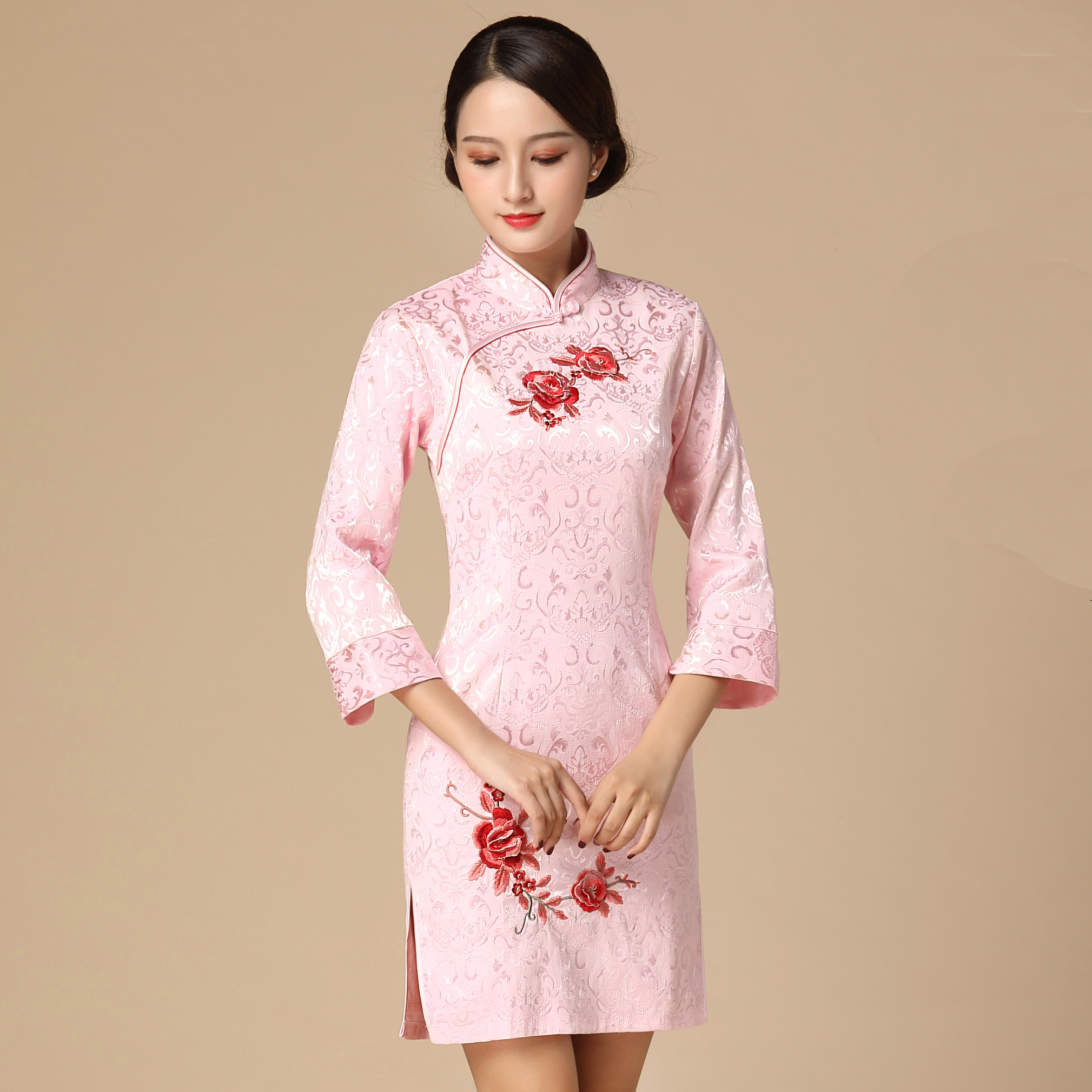 7313b1cf9a Buy pink chinese dress and get free shipping on AliExpress.com
