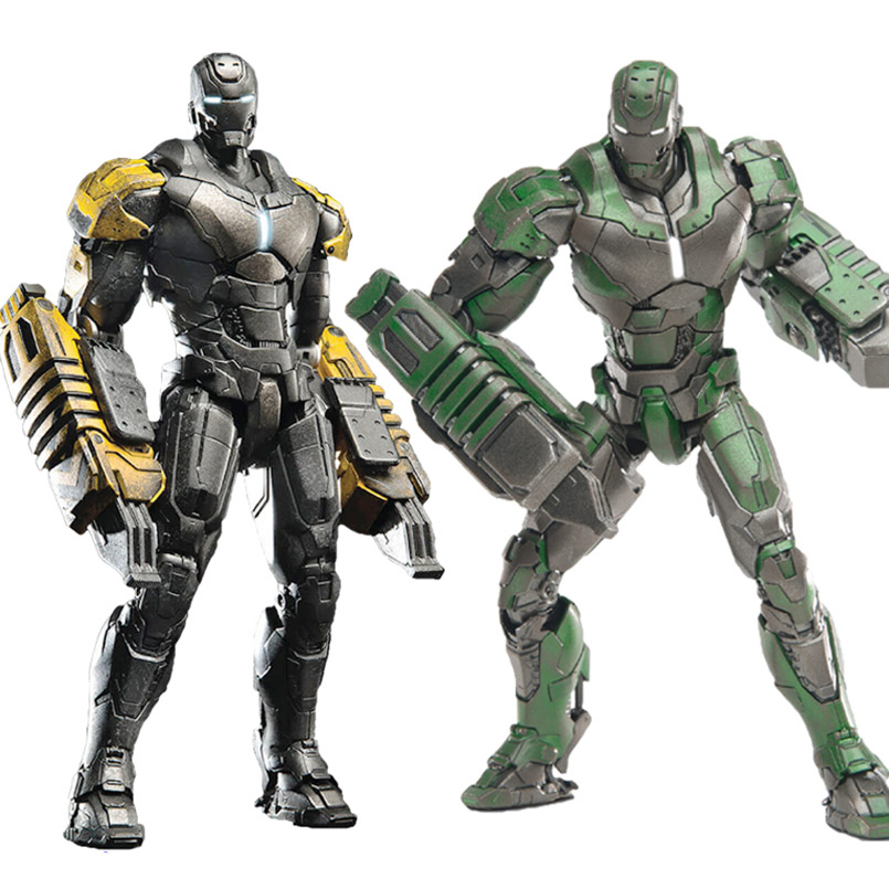 DHL доставка Мстители металл железный человек MK25 Striker MK26 гамма ПВХ Действие фигурка Железного человека MK25 Коллекционная модель игрушки для д
