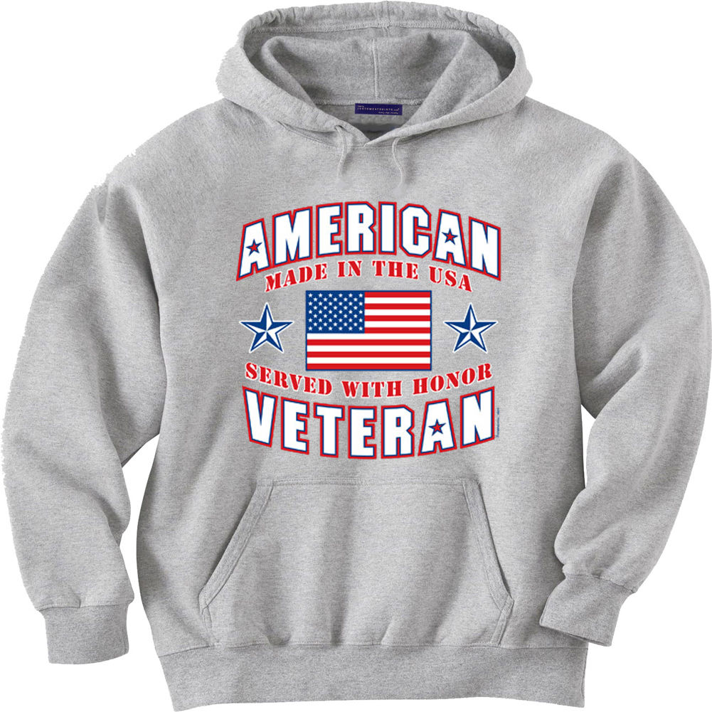 American Veteran Hooded Sweatshirt Hoodie Sweater Vietnam Korean Iraq War Vet Demand Exceeding Supply Men's Clothing