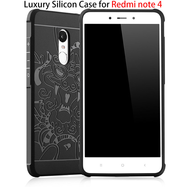 online retailer 0f36d 30536 US $4.39 45% OFF|For Xiaomi Redmi Note 4 Case Luxury Silicon 3D Dragon  Shockproof Original Back Cover for Xiaomi Redmi Note 4X 4 X Pro Prime  Case-in ...