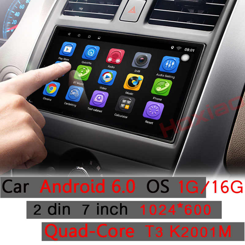 2 Din gps Android 6,0, dvd-автомагнитола плеер 1 ГБ 16 ГБ четырехъядерный мультимедиа двойной Din для KIA Ford Nissan Toyota Volkswagen Mazda