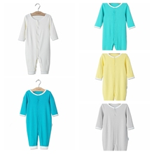 2017 Summer Newborn Infant Baby Romper Clothes Boy Girl Rompers 100% PIMA Cotton Long Sleeve Romper Jumpsuits Clothing Solid