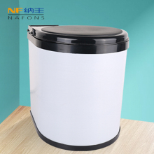 8L White Color Stainless Steel Dustbin Rubbish Waste Bin Kitchen Trash