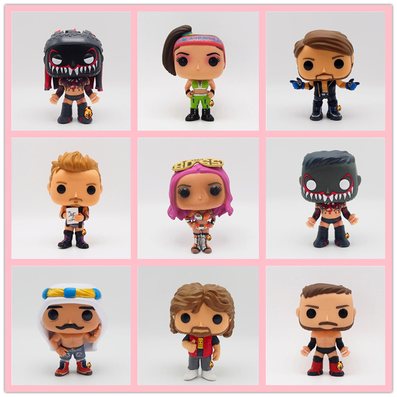 Original Funko POP Wrestling Iron Sheik Booty Orton Under Taker Fighter Sting Boxer Vinyl Action Figures Collectible Model Toys