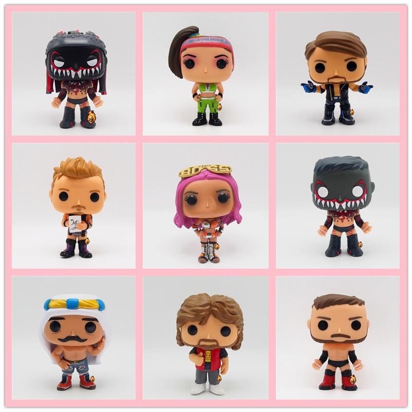 Original Funko POP Wrestling Iron Sheik Booty Orton Under Taker Fighter Sting Boxer Vinyl Action Figures Collectible Model Toys