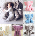 EMS Free Shipping Wholesale Baby Elephant Pillow Children Sleep Pillow Baby Crib Foldable Kids Doll Seat Cushion Children Toy