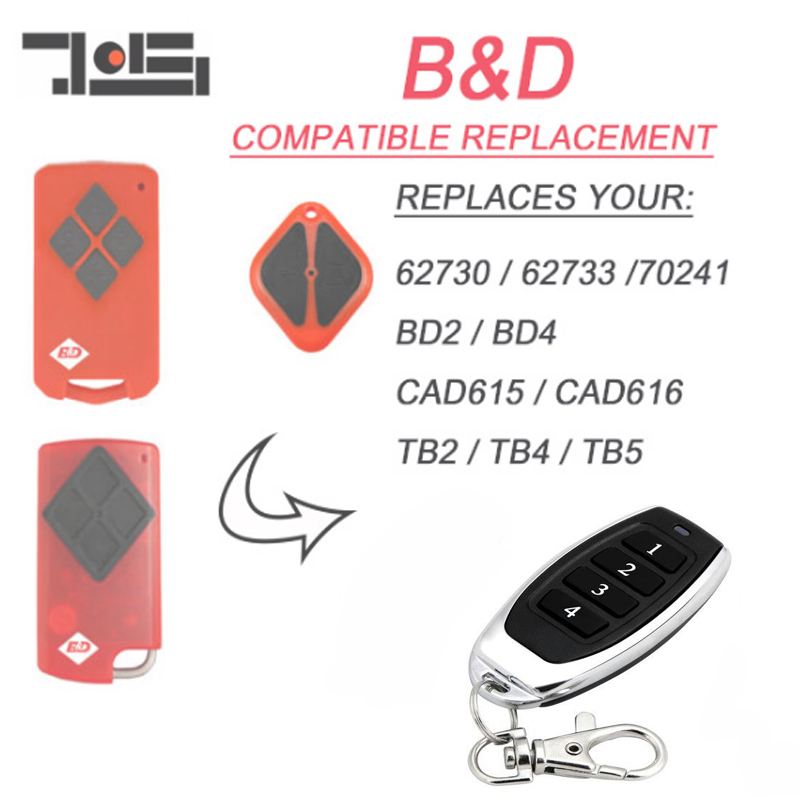 For  B&D PTX5 PTX-5 Tritran Tri Tran Garage Door BND TB5 BD4 BD2 Replacement Remote Control Free Shipping