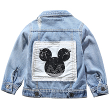 Kinderen Mickey Denim Jas Jas 2020 Nieuwe Lente Herfst Kids Fashion Bovenkleding Jongens Meisjes Gat Cartoon Jeans Jas Voor 2 7 Jr