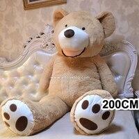 Wholesale 200CM Unfilled Giant Teddy Bear Skin Bulk 2M Empty Teddy Bear Shell Girl Boy Kids