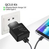 18วัตต์Qualcomnค่าเร็ว3.0ผนังอะแดปเตอร์ชาร์จ+ M IcroประเภทC USB-Cสายค่าใช้จ่ายได้อย่างรวด