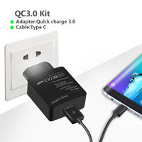 Travel Wall Charger QC3 0 Fast Quick Charger Adapter 18W Output Universal For Samsung Note5 S6