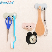 D-2 High Cost-Effective   Cute elephant wall sticky hooks kitchen bathroom hanger