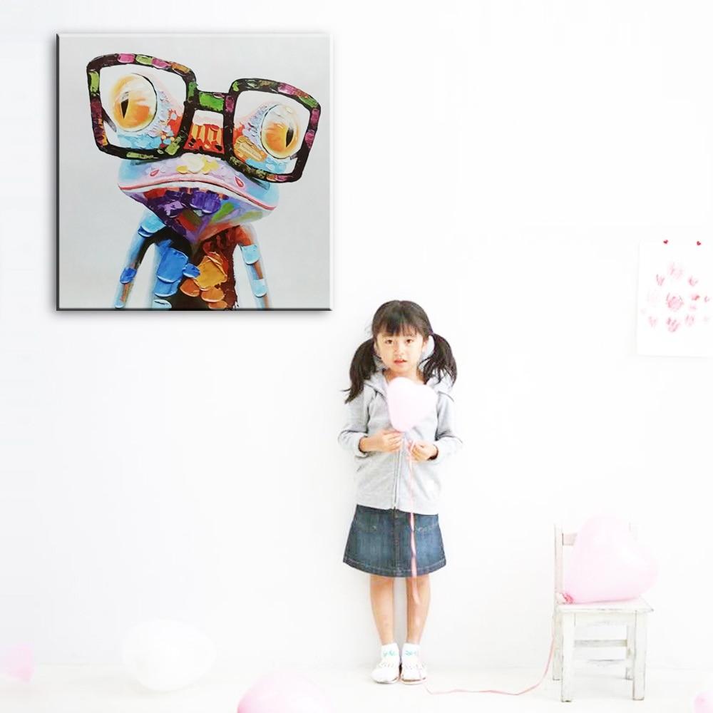 Dekorasi rumah simulasi lukisan minyak di atas kanvas, Print Animai - Dekorasi rumah - Foto 2