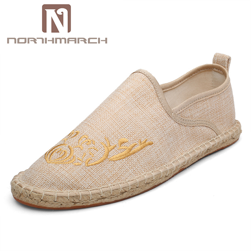 Moine Conduite or Slip De Espadrilles Hommes Classique Style gris Respirant Beige Chinois Mode Chanvre Creepers Mocassins Northmarch Chaussures noir on W1Yqvxnv