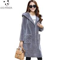 2019 зимняя натуральная оторочка из овечьей шерсти, пальто, женские шерстяные пальто, женская зимняя куртка с капюшоном, Длинные теплые куртк