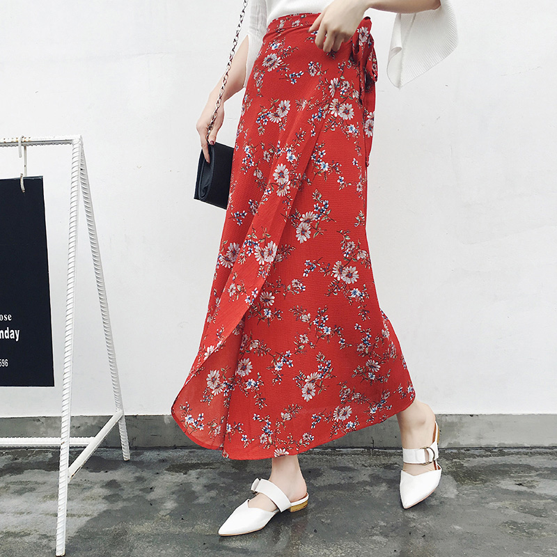 Boho Asymmetrical Chiffon Maxi Long Skirts 3