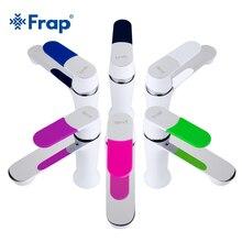 Frap современный Стиль новый смеситель бортике холодной и горячей воды смеситель multi Цвет крышки ручки выбор как присутствует F1034