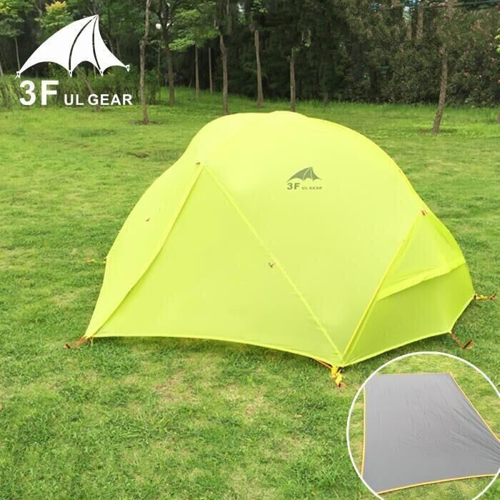 2 Person 4 Season Camping Tent Outdoor Ultralight Hiking Backpacking Hunting Waterproof Tents 3f ul gear high quality outdoor 2 person camping tent double layer aluminum rod ultralight tent with snow skirt oneroad windsnow 2 plus