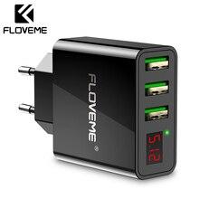 FLOVEME USB Charger 3A LED Display Universal Mobile Phone US