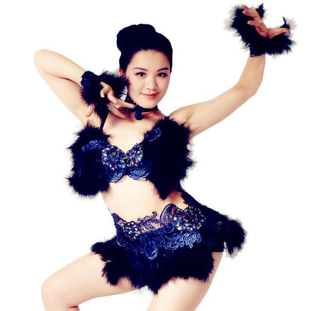 233f471dc6139 Enthusiast Sexy Women Belly Dance Dress Pole Dancing Dress Night Club  Costumes Salsa Rumba Dance Costumes
