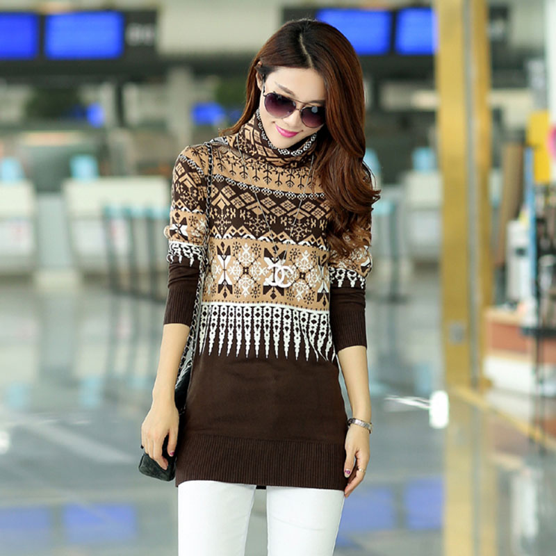 2020 New Fashion Thickening Basic Long Sweater Female Pullover Turtleneck Cashmere Women Sweater Plus Size Sweater Female OK172