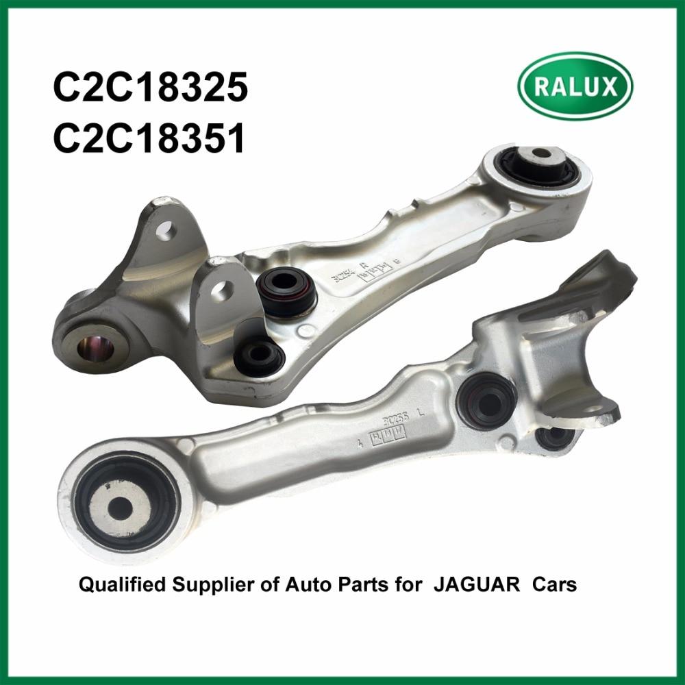 Bras de commande Pour Jaguar S TYPE 03-07X350 03-XF 08-XK 06-Avant en bas À DROITE et GAUCHE C2C18325 + C2C18351 haute qualité partie